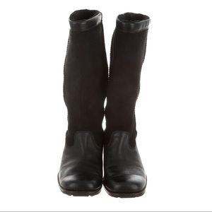 UGG Australia Square-toe Leather Boots